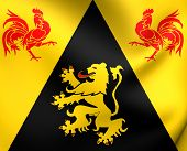 Flag Of Walloon Brabant, Belgium.