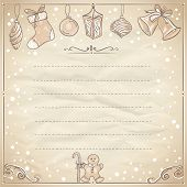 Christmas frame with paper and place for text. Eps10