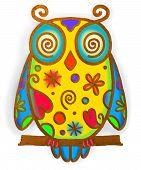 Owl Paint Doodle