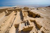 pic of masada  - Ruins on top of the rock Masada in Israel - JPG