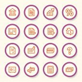 stock photo of internet-banking  - Finance and Banking icons - JPG