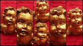 pic of figurines  - Antiques Angels Baroque Figurine Decoration Arts Golden - JPG