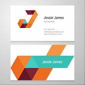 stock photo of letter j  - Modern letter J Business card template - JPG