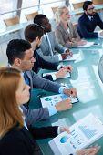 image of seminars  - Group of business people sitting at seminar - JPG