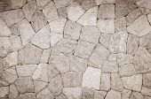 image of tile cladding  - the part of a stone wall background - JPG