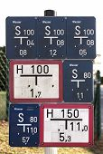 picture of underground water  - Collection of gate valve and water hydrant signs in Germany - JPG