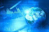 foto of graph  - Background image with financial charts and graphs on the table - JPG