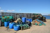 image of tub  - This image contains fishing gear on a harbour - JPG