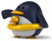 picture of floaties  - Fun penguin - JPG