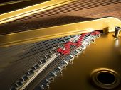 picture of grand piano  - Interior of a concert grand piano  - JPG