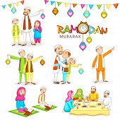 foto of ramazan mubarak  - Celebrations for Islamic holy month of prayers - JPG