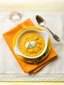image of chive  - pumpkin soup with ricotta and chive - JPG