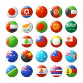 image of flags world  - World flags round badges - JPG