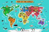 foto of atlas  - A vector illustration of map of the world - JPG