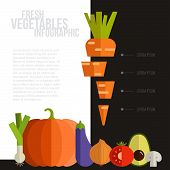 image of food label  - Fresh vegetables vector concept - JPG