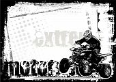 stock photo of dirt-bike  - sketching of the motorsport background in the vectors - JPG