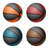 image of combine  - Combinated color basketballs - JPG