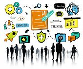 pic of communication people  - Business People Training Communication Corporate Ideas Concept - JPG