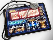 pic of herniated disc  - Disc Protrusion  - JPG