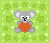 picture of koalas  - Happy holiday background with funny koala cartoon - JPG