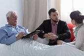 foto of terminator  - Image of terminally ill father making a will - JPG