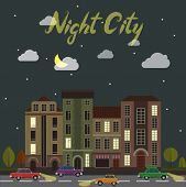 foto of suburban city  - City street at night - JPG