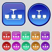 pic of chandelier  - Chandelier Light Lamp icon sign - JPG