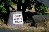 Постер, плакат: Gray Water Disposal Station At Summer Campground