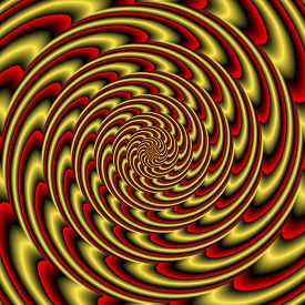 stock photo of hypnotic  - Colorful abstract hypnotic colorful tunnel  - JPG