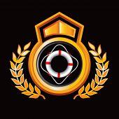 life ring on orange royal crest
