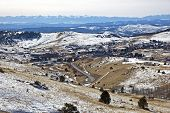 pic of crippled  - Snow covered Mountains surrounding Cripple Creek Colorado - JPG