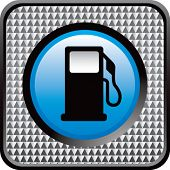 gas pump icon checkered web button