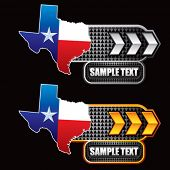 lonestar state white and yellow arrow banners