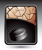 hockey puck bronze cracked background