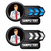 medial doctor blue and white arrow nameplates