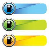 gas pump icon colored tabs