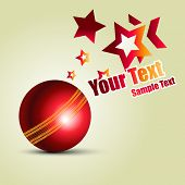 stock photo of cricket ball  - cricket ball vector background design - JPG