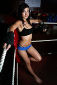 Asian Woman In Boxing Ring
