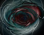 Dark, Evil Vortex In Deep Space - Digital Illustration