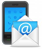 send a letter icon - mobile phone with new e-mail