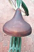 Old Leather Bike Seat
