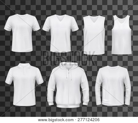 poster of Shirts Template Of White Blank T-shirt, Polo And Hoodie, Tank Top, Sweatshirt, Long Sleeve And Sleev