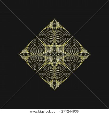 Sacred Geometry  Graphic Gold Rhombuses And Star  Sacred Geometry Symbols  And Elements  Alchemy, Rel poster