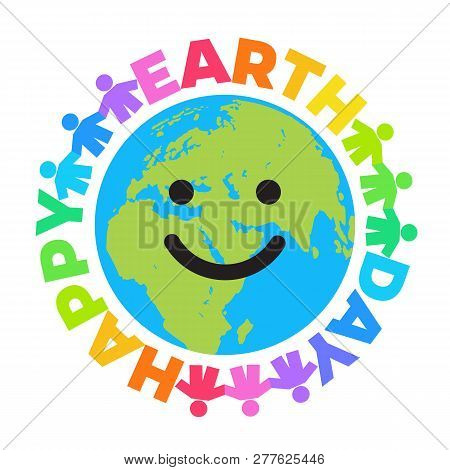 Happy Earth Day Poster Bright