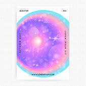 Princess Cover. Kawaii Rainbow Hologram. Holographic Unicorn Gradient. Fantasy Cover. Minimal Univer poster