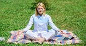 Find Minute To Relax. Woman Relaxing Practicing Meditation. Every Day Meditation. Reasons You Should poster