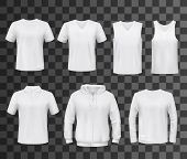 Shirts Template Of White Blank T-shirt, Polo And Hoodie, Tank Top, Sweatshirt, Long Sleeve And Sleev poster