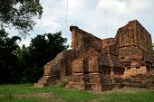 Wat Nong Phikun With Buddha Statues Historical Park In Nakhon Ch poster
