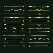 Collection Of Vector Dividers. Can Be Used For Design, Letters, Jewelry, Gifts, Notebooks poster