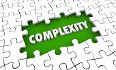 Complexity Complications Puzzle Pieces Hole 3d Illustration poster